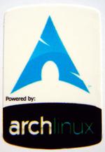 Powered by archlinux Sticker 19 x 28mm [395]